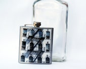 HIP FLASK - NYC Photo Flask- 6 oz.-East Village Fire Escape