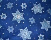 Custom Order for JoAnn Judaic Fabric White and Blue Stars on Blue