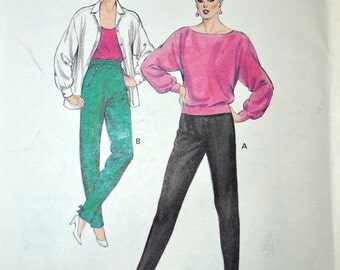 Sewing Pattern Kwik Sew 1492 Misses' Pants Size 6-12 Waist 23-27  inches Uncut Complete