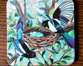 COASTER Mosaic Magpies Coaster - Mosaic Art - Two For Joy
