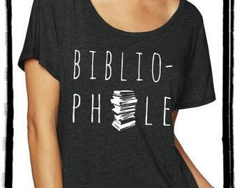 Bibliophile Dolman Tee Loose Slouchy Heathered tshirt shirt