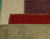 Upholstery fabric samples - 4 soft woven