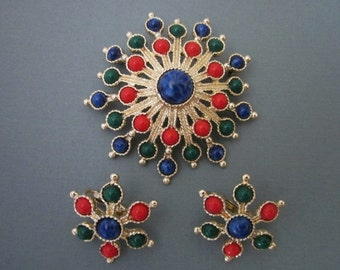 Vintage Brooch and Earrings Set Sarah Coventry
