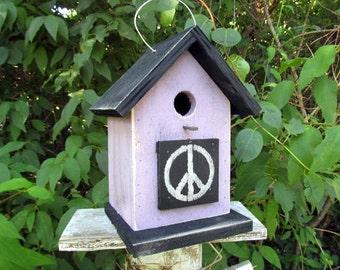Peace Sign Birdhouse