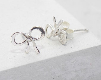 Stud Earrings | Bow Stud Earrings, Bow Studs, Tiny Studs, Post Earrings, Small Stud Earrings, Post Earring, Bridesmaids Gifts, Flower Girl
