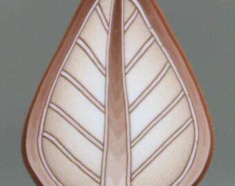 White Gold Polymer Clay Leaf Cane (28B)