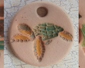Custom Small Bisque Pottery Pendant or Necklace - Aromatherapy Essential Oil Diffuser w/Glazed Details-Choose Design - TURTLE Series