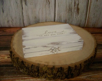 Rustic Wedding Ring Box/Ring Bearer Box-Bride and Groom Wooden Ring Box