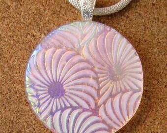 Dichroic Glass Pendant - Fused Glass Pendant - Fused Glass Jewelry - Dichroic Pendant - Sea Shell Pendant