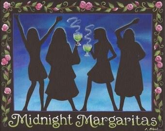 Midnight Margaritas - 8 x 10 Print of Original Acrylic Painting by Carolee Clark