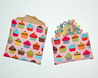 Sweet Confections - Eco Friendly Reusable Sandwich and Snack Bag Set
