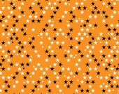 SALE Halloween Magic Halloween fabric by Riley Blake and Fabric Shoppe - Halloween Stars in Orange, Choose Your Cut