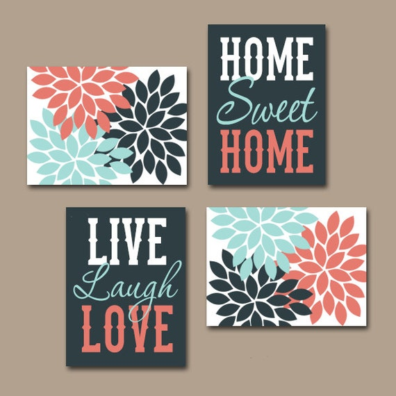 Wall art canvas or prints live laugh love art home sweet for How to design wall art