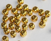 100 pcs of gold plated brass square cube beads 4x5mm