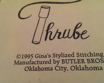 Thrube Sewing Tool for air-woven scarves plus embellishing, couching and more.  1995 Gina's Stylized Stitching