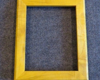 8x10 Curly Maple Picture Frame Yellow dye XX