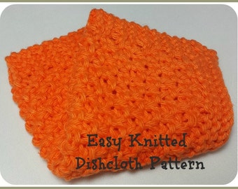 Knit Dishcloth Pattern Extended Seed Stitch Knitted Dish Rag Wash Cloth