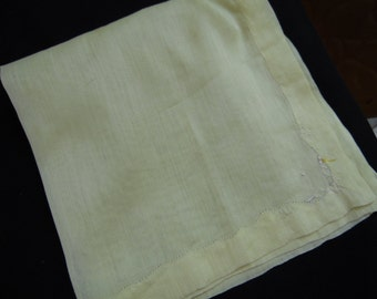 Vintage Yellow Ladies' Hankie/Handkerchief