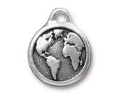 Earth Drop, Antique Silver, TierraCast, 2 Pieces TS116