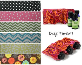 Essential Oil Case / Essential Oil Padded Bag / Cushioned Insert / Carrying and Travel Case Zipper Pouch Add-on