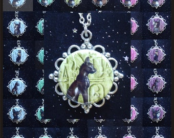 Egyptian Cat Goddess Bast Pendants - 6 Styles and 6 Colors to Choose From