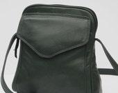 RESERVED FOR JeanSussams1 Leather Shoulder BAG  Dark Forest