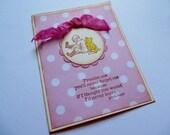 Winnie The Pooh Stamped Greeting Card - Friendship Goodbye