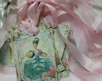 Marie Antoinette  Gift Tag -  French Country Gift Tags -  Marie Antoinette Gift Cards