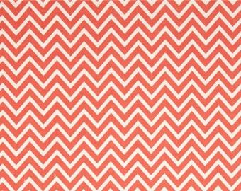 Destash Premier Prints Fabric. Coral COSMOS CHEVRON Home Decor Cotton. 1.5 Yard Cut. Destash Fabric. Modern Design Chevron. SewGracious.