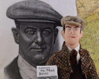 P.G. Wodehouse Author and Writer Doll Miniature Author by Uneek Doll Designs