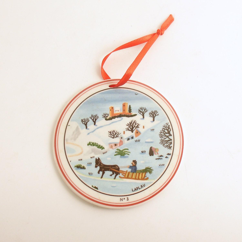Vintage christmas ornament villeroy boch naif laplau paris - Villeroy et boch paris ...