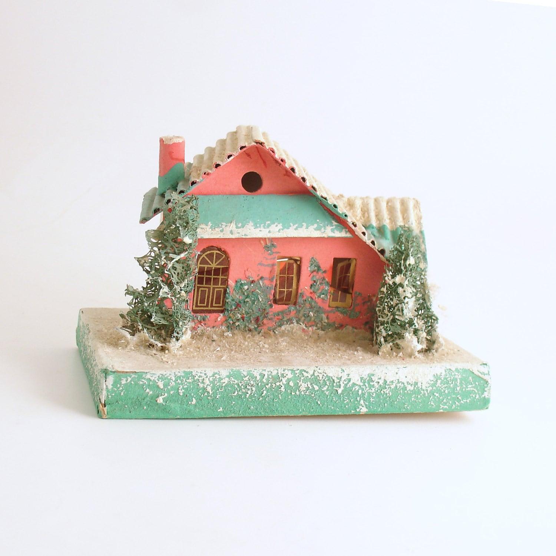 Vintage Christmas Decoration Mica Putz House Christmas Village