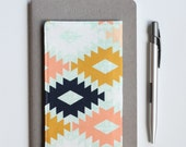 Aztec Fabric Checkbook Cover, Cute Gift for Friend