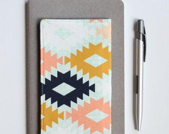 SALE - Aztec Fabric Checkbook Cover. Friend Gift Ideas Under 25