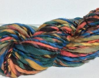 Handspun Yarn - Super Bulky Weight American Merino - 74 yards of 'Indira'