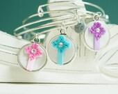 Cross Jewelry for Woman Adjustable Bangle Bracelet -  Alex & Ani Inspired Style #51