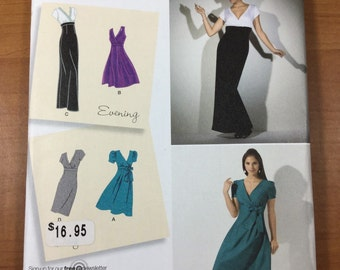 Day Evening Retro Dress SEWING PATTERN Simplicity 2549 Sizes 14-16-18-20-22