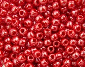 "Opaque Lustered Cherry Toho Seed Bead 11/0 2.5"" Tube TR-11-125/C"