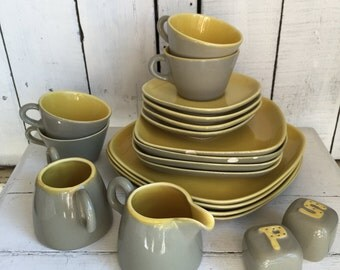 Vintage Gabriel Pasadena Pottery Winfield California Plates, Saucers, Salt and Pepper, Creamer Sugar CHOICE