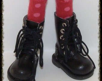 Tall Maroon With Blush Dot Socks...For Blythe...