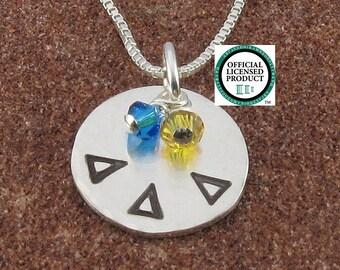 Delta Delta Delta Necklace,ΔΔΔ Sterling Silver or 14K Gold Filled Greek Letter Pendant,ΔΔΔ Bid Day,Initiation/OLP