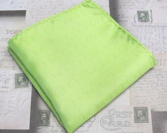 Pocket Square Green Dot Hankie
