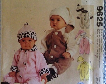 McCalls pattern 9625 infants jumpsuit and hats