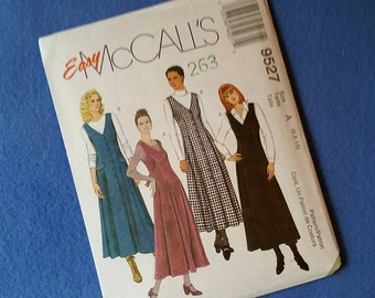 Uncut Easy McCall's Sewing Pattern 9527 - Misses' Jumpers - size 6 8 10 (size A)