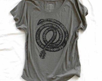 Guitar Snake - ladies dolman tee