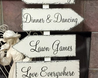 WEDDING SIGNS | Ceremony Signs | LOVE Everywhere | Mr & Mrs Signs | Bride and Groom signs | Set of 4