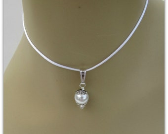 White Pearl Pendant, Celestial Pearls, Pearl Pendant, Pearl Necklace, Drop Pendant, Bridesmaid Pendant Beaded Pendant, Item #1127