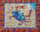 Curious Carlisle Blue Crab Fusible Applique Pattern