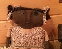 Primitive grungy doll by Starry Nites Farm, rustic, old fashion, folk, vintage style; Hafair; TeamHAHA, OFG, ado, Nooga, Norga, Ellijay
