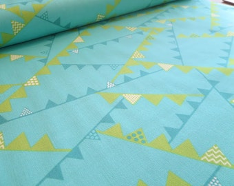 SALE -- I Love Puppies Blue Flags - Henry Glass by Heather Mulder Peterson - 100% Cotton Fabric - Sold by the Yard